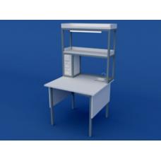 Стол лабораторный пристенный химический высокий ЛСХ-0.04-ВТМ