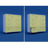 Шкаф для хранения продуктов закрытый с ящиками МШ-3.10-ВТМ