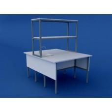 Стол лабораторный островной химический  низкий ЛСХО-0.03-ВТМ