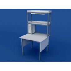 Стол лабораторный пристенный физический низкий  ЛСФ-0.01-ВТМ