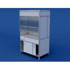 Шкаф вытяжной(пластиковая столешница) ЛШВ-0.01-ВТМ